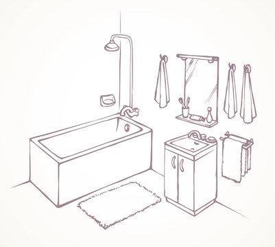 Bath. Vector drawing