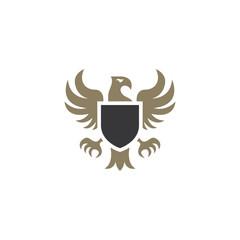 Heraldic eagle emblem template. Vector illustration