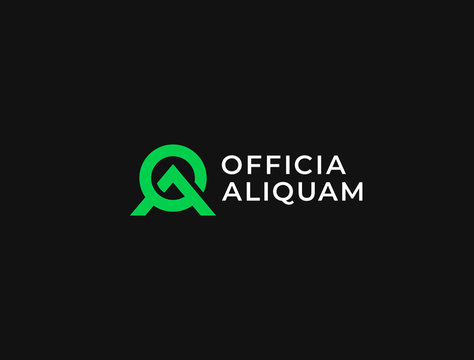 AO. Monogram of Two letters A & O. Luxury, simple, minimal and elegant AO or OA logo design. Vector illustration template.