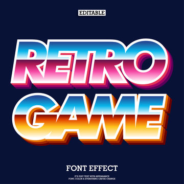 retro arcade game font for brand logotype