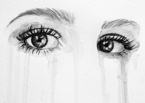 Watercolor eyes background