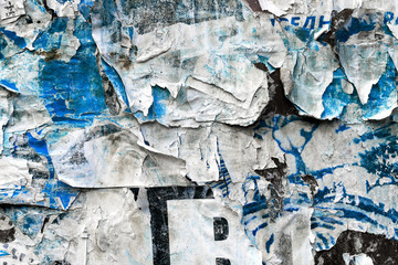 Wall Mural - Ripped torn grunge poster paper
