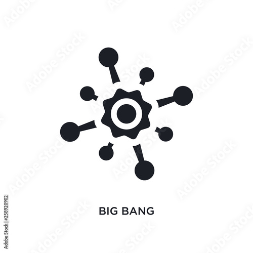 Black Big Bang Isolated Vector Icon Simple Element Illustration