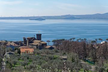 Bolsena Lake in Lazio, Italy