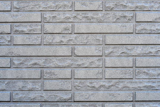 Gray stamped concrete texture for exterior wall in high details.