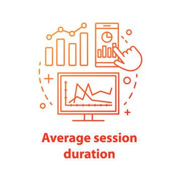 Average session duration concept icon