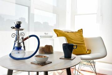 shisha relajante con cafe