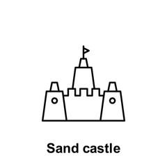 Sand castle icon. Element of summer holiday icon. Thin line icon for website design and development, app development. Premium icon