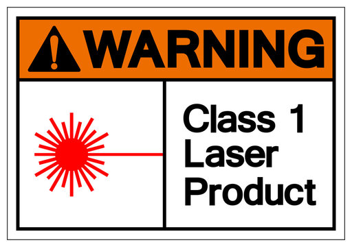 Warning Class 1 Laser Product Symbol Sign, Vector Illustration, Isolate On White Background Label. EPS10
