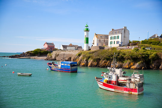 Port de pêche traditionnel en Bretagne sud