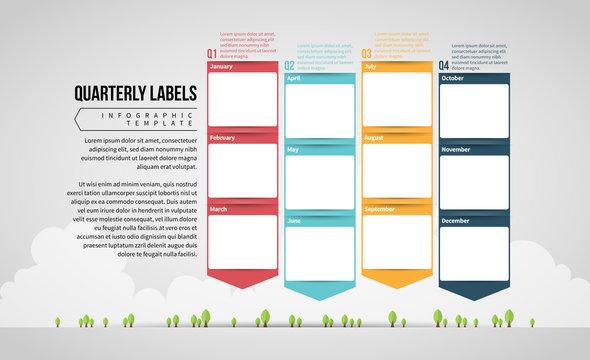 Quarterly Calendar Labels