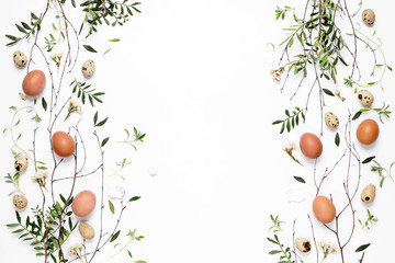 Easter greeting background