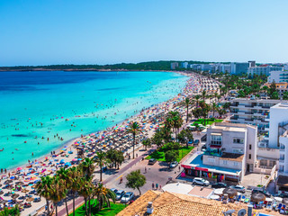 Cala Millor beach and hotels Fototapete