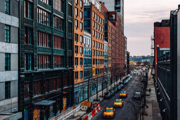 Street view of west 23th street in Chelsea New York City Wall mural