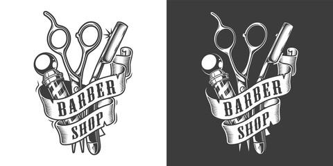 Vintage barbershop label