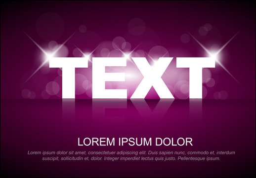 Header Layout with Glowing Text Effect
