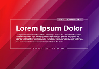 Web Banner Layout with Diagonal Stripes