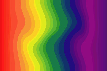 Color iridescent texture of discrete curved bands.