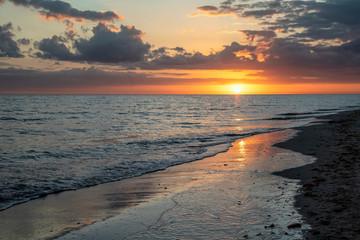 Sun and Sea - Sanibel Island, Florida Sunset