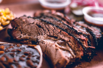 Texas Style BBQ Smoked Beef Brisket Wall mural