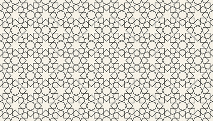 Abstract seamless islamic geometric pattern