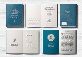 Classic Style Book with Illustration Elements