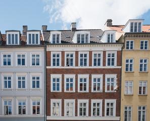Fassaden von bunten Altbauten