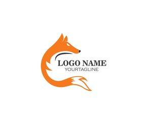 fox logo icon vector template