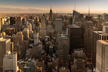 Fototapeta New York Panorama am Abend