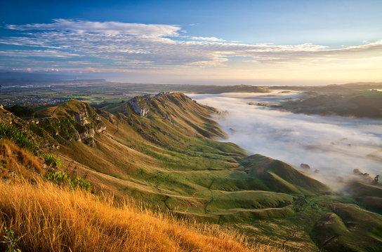 Sunrise at Te Mata Peak, Havelock North, New Zealand