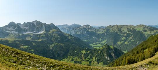 Wall Mural - Incredible view on Swiss Alps as seen from Haldigrat in Switzerland