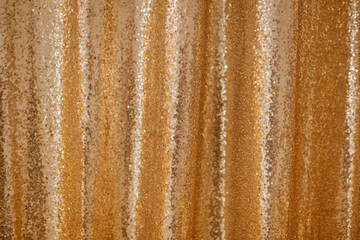 Golden Sequence Beaded Background Glitter Pattern