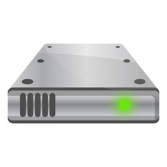 Fototapeta External hard disk icon. Cartoon of external hard disk vector icon for web design isolated on white background obraz