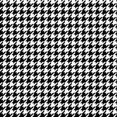 Black and white pattern Houndstooth seamless pattern black and white
