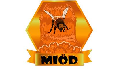 Obraz miód, etykieta, label honey,bee, pszczoła - fototapety do salonu