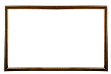 beautiful orange frame isolated on white background