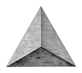 Vintage triangle hand draw black and white clip art isolated on white background