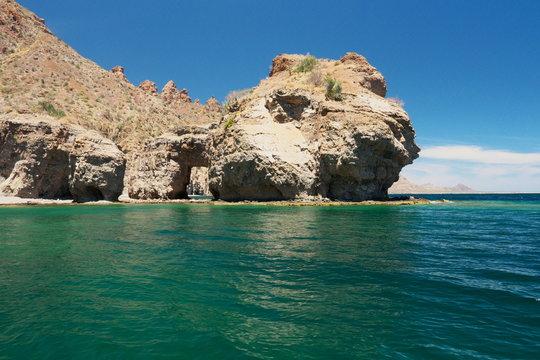 island in the sea Loreto Isla Danzante Baja California mexico