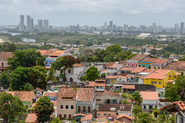 Fotobehang Athene Old colonial town of Olinda with the city of Recife in the background, Brazil