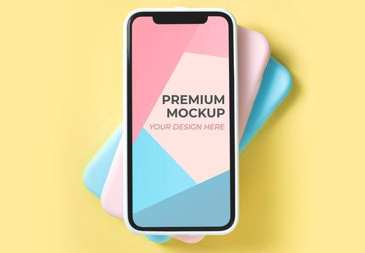 Pop Color Mobile Phone Screen Mockup