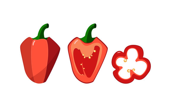 Set of three peppers.