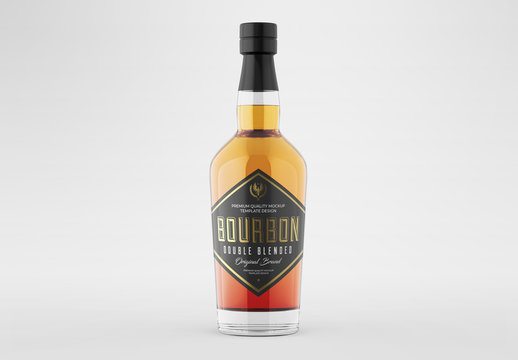 Whiskey Bottle Packaging Mockup