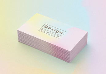 Abstract Holographic Business Card Template