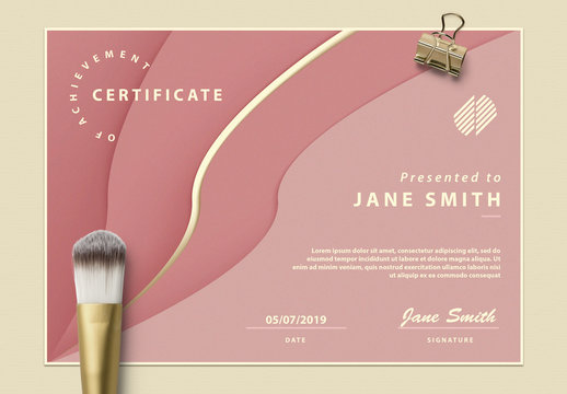 Certificate of Achievement with Abstract Design