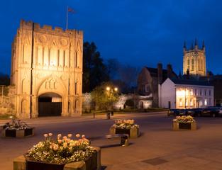 Europe, UK, England, Suffolk, Bury St Edmunds gatehouse cathedral