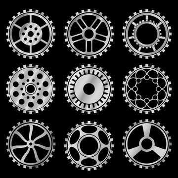 The steampunk gears vector