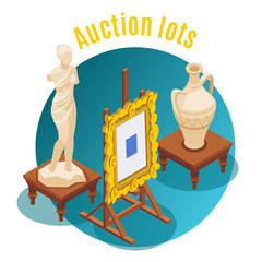 Auction Isometric Background