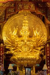 Chùa Bái Đính pagode Vitenam, statue de divinité bouddhiste