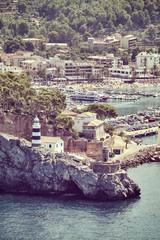 Wall Mural - Retro toned picture of Port de Soller, Mallorca, Spain.