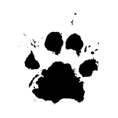 Paw Print Vector Paint Splatter Style